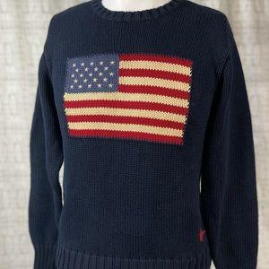 Polo Ralph Lauren American Flag Crewneck Sweater